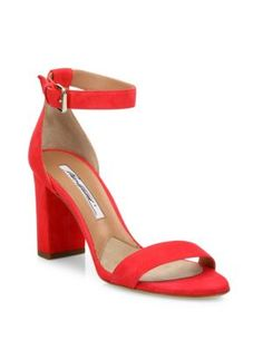 BRIAN ATWOOD Margo Suede Block-Heel Sandals. #brianatwood #shoes #sandals