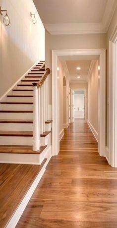 House Design, Wood Floors Wide Plank, Traditional House, Wood Floor Colors, New Homes, Black Walnut Flooring, Ceiling Design Modern, Stairs Design, Walnut Floors