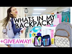 What's In My Backpack! + HUGE Back To School Supplies Giveaway! - YouTube