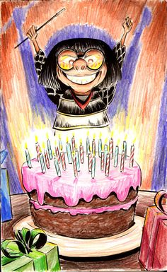 Here's a birthday card I made for my friend Tamar, who is a big fan of Edna Mode from The Incredibles . Disney And Dreamworks, Disney Pixar, Happy Birthday Wishes, Birthday Cards, Edna Mode, Disney Memes, Disney Fun, Xmas, Christmas
