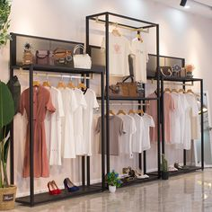 We customize the exclusive display rack for your store! Source by joedeltaofficial store design Fashion Shop Interior, Clothing Boutique Interior, Boutique Decor, Fashion Showroom, Showroom Interior Design, Boutique Interior Design, Retail Interior, Clothing Store Displays, Clothing Store Design