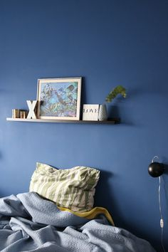 Wandfarbe Blau Grau: Wandfarbe Im Ton Blau Grau Wird Oft Unterschätzt. Blau  Graue Farbtöne Versprühen Eine Wunderbar, Charmante Atmosphäre Unu2026