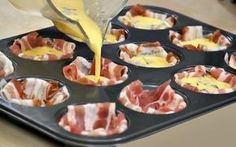 TOO GOOD, MIAM! Those who love eggs and bacon will thoroughly enjoy this recipe. Ready in just 30 minutes, she wants more f TOO GOOD, MIAM! Those who love eggs and bacon will thoroughly enjoy this recipe. Ready in just 30 minutes, she wants more f Bbq Appetizers, Appetizer Recipes, Oeuf Bacon, Bacon Muffins, Omelette Muffins, Finger Foods, Food Porn, Food And Drink, Tasty