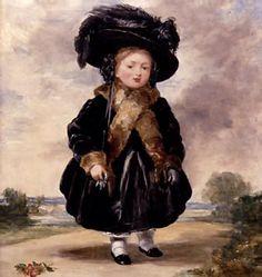 Victoria I de Inglaterra a los 4 años. cuadro de Stephen Poyntz Denning