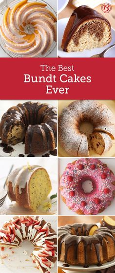 A beautiful Bundt cake is our go-to for any occasion that needs an impressive (and easy) dessert. From lemon cream cheese to peanut butter-chocolate swirl and every Bundt in between, this is the roundup you need for all your Bundt cake needs! Brownie Desserts, Oreo Dessert, Mini Desserts, Easy Desserts, Delicious Desserts, Plated Desserts, Cupcake Recipes, Baking Recipes, Cupcake Cakes