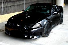 Blacked Out Cobra New Edge Mustang, Black Mustang, Mustang Wheels, Mustang Cars, Cute Car Seat Covers, 2002 Ford Mustang, Ford America, Fox Body Mustang, Girly Car