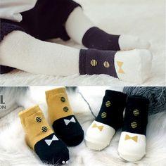 韩国秋冬季新款全棉男女儿童短袜 尊贵时尚小童婴儿宝宝防滑袜子