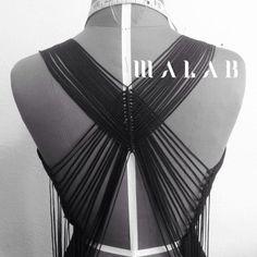 Back details - inspirado en el urdido de hamacas y el telar de cintura