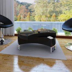 COFFEE TABLE SHAPE-ADJUSTABLE HIGH GLOSS BLACK VDXLAUCTS590