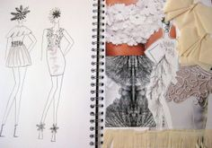 Fashion Sketchbook - fashion design & development with fabric manipulation samples // Hayley Cornish