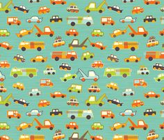Hero-saurus Vehicles fabric by jennartdesigns on Spoonflower - custom fabric
