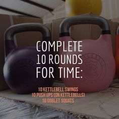Do as fast as possible while maintaining proper form.  Kettlebell workouts combine the benefits of dumbbell training with a high-intensity cardio workout to help you build muscle, increase power, and get lean.