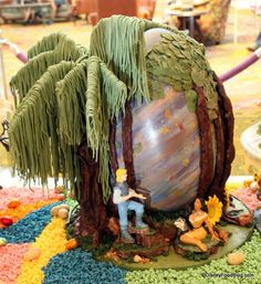 The 2014 Grand Floridian Resort Easter Egg Display in Walt Disney World. These are 9-12 pound chocolate Easter Eggs created and crafted by Disney Chefs!