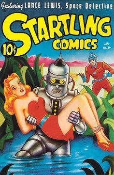 Startling Comics - #49 January 1948 - Comic Book Cover Poster