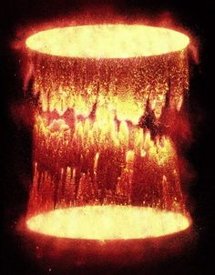 Cylinder with Phosphorescent Particles, by Caleb Charland