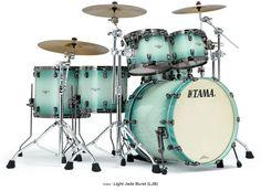 Tama Drum's Starclassic Bubinga in beautiful Light Jade Burst finish and Black Nickel hardware http://Promusicianslist.com