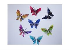 How to make paper butterflies with magazines - super easy - YouTube