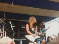 Metallica playing at the Iowa Jam in Des Moines, IA - May 26, 1986 © Andy Hall
