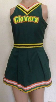 TITANS TENNESSEE CHEERLEADER HALLOWEEN COSTUME UNIFORM OUTFIT 5 6 DELUXE BOW SET