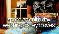 Disney movies. Actually a whole week with Sofia Draper!! :)