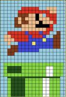 Perler Bead Templates, Perler Patterns, Quilt Patterns, Mario Crochet, Pixel Crochet, Beaded Cross Stitch, Cross Stitch Embroidery, Cross Stitch Patterns, Perler Bead Mario