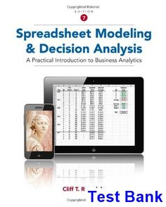 You will download digital wordpdf files for complete solution test bank for spreadsheet modeling and decision analysis a practical introduction to business analytics 7th edition fandeluxe Images