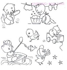 Free Embroidery Patterns - Free Patterns Suitable for Hand and #VintageEmbroideryPatterns