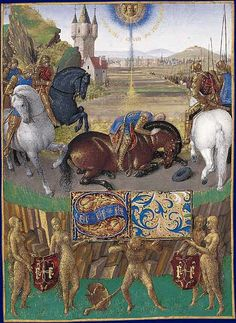 Conversion of St Paul, illumination of the Book of Hours of Etienne Chevalier, Jean Fouquet.  Art Experience NYC  www.artexperiencenyc.com/social_login/?utm_source=pinterest_medium=pins_content=pinterest_pins_campaign=pinterest_initial