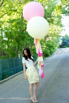 Balloons + fringe.