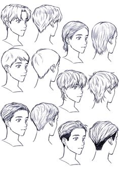 Improve The Look Of Your Hair With These Excellent Tips Anime Boy Hair, Manga Hair, Anime Drawings Sketches, Anime Sketch, Hair Drawings, Pencil Drawings, Boy Hair Drawing, Manga Drawing Tutorials, Drawing Hair Tutorial
