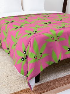 Cute & Highasf Comforter a happy and high smiling sweet #420 #pink and pretty #comforter for lazy #daze