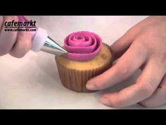 Krema Torbası ve Duy Takımı ile Kek Süsleme - YouTube