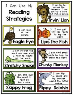 Mini Poster Set for Reading Strategies: Kindergarten & First Grade Hey Readers! Mini Poster Set for Reading Strategies: KindeHey Readers! Mini Poster Set for Reading Strategies: Kinde Teaching Reading Strategies, Reading Intervention, Reading Activities, Reading Skills, Reading Comprehension, Reading Strategies Posters, Decoding Strategies, Kindergarten Guided Reading, Readers Workshop Kindergarten