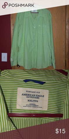 105cd68291412 #AmericanEagle Men's button down shirt American Eagle Men's button down  shirt. XXL. Good