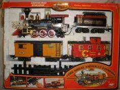 New  Bright train set G scale