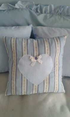 Blue pillow with heart