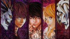 Death Note, Ryuk, Миса Аманэ, Yagami Light, Rem, Amane Misa