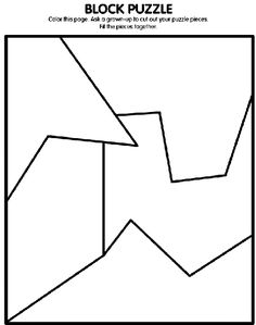Block Puzzle coloring page