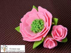 """Купить Заколка """"Розовая нежность"""" - розовый, заколка с цветами, заколка для волос, заколка цветок, цветок"""