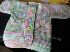 Elizabeth zimmerman's surprise baby jacket - whoops, I can see my mistake!
