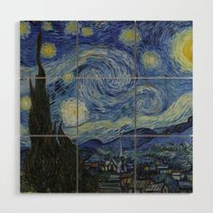 Shop Van Gogh Starry Night, Vintage Fine Art Landscape Kitchen Towel created by VanGogh_Gallery. Vincent Van Gogh, Retro Poster, Poster Vintage, Vintage Art, Gogh The Starry Night, Images D'art, Classic Paintings, Oil Painting Reproductions, Canvas Poster