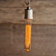 Tubular Light Bulb vintage, clear, adam gatchel