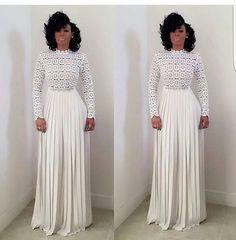Keysha Ka'oir in all white.
