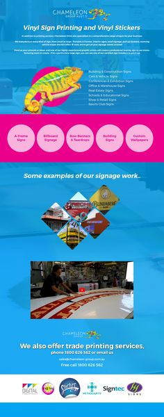 We are professionals in sign printing. Sign Printing, Printing Services, Chameleon, Metals, Signage, Adhesive, Range, Plastic, Group