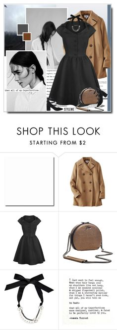 """Chilly Fall"" by itshandra ❤ liked on Polyvore featuring GUESS, Uniqlo, Lanvin, Hush and vintage"