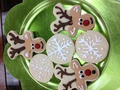 Reindeer Cookies = upside down gingerbread men!