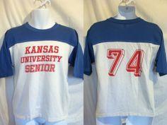 Vintage 1974 Rare KANSAS UNIVERSITY Tshirt/ by sweetVTGtshirt, $60.00