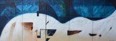 Blue & White Wave | by Glenn Yamanoha #GlennYamanoha #CedarStreetGalleries #Oil