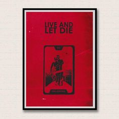 Live and Let Die. James Bond Inspired Giclee Print