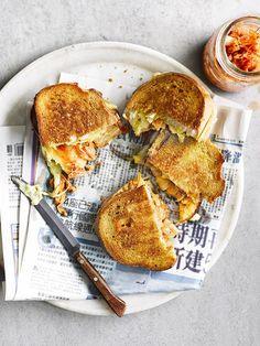 This kimchi grilled cheese sandwich is addictive. Serve leftover kimchi on burgers, hotdogs, stir into mayo as a condiment or eat with Korean fried chicken.